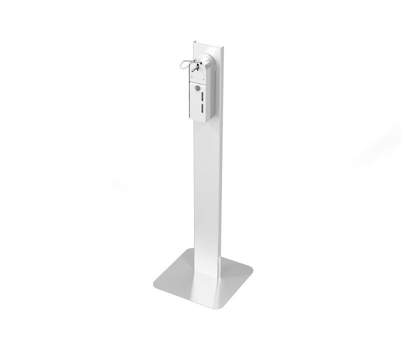 Combisteel Desinfektionssäule aus Edelstahl | Einschließlich Dispenser mit Ellbogensteuerung