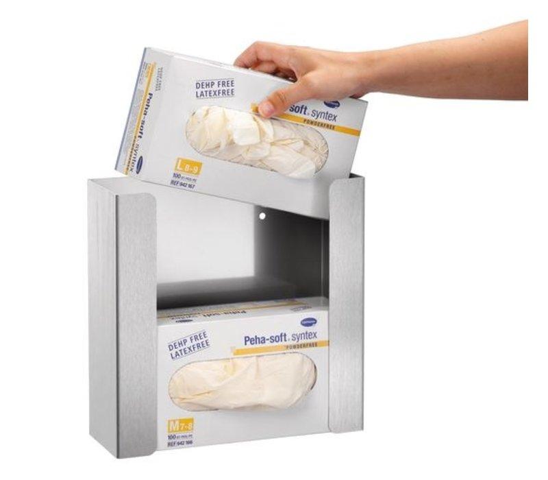 Bartscher Handschuhspender K20 | Edelstahl | 260x97x260mm