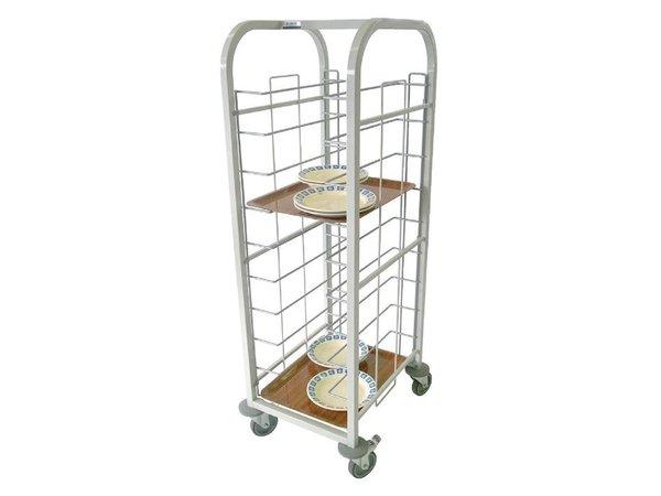 Craven Tablettwagen Stahl   Für 10 Serviertabletts   485x578x(h)1393mm