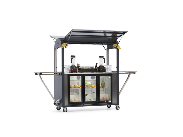 MultiWagon Coolrolly Bar | Multifunktionale Mobile Pop-Upbar | 1850x750x(h)2040mm