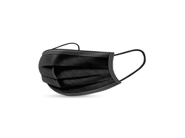 XXLselect Schwarze Einweg-Mundmasken | Medizinisch | 200 Stück