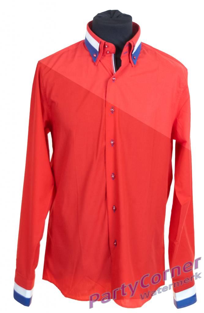 Heren Overhemd Rood.Overhemd Rood Partycorner Nl