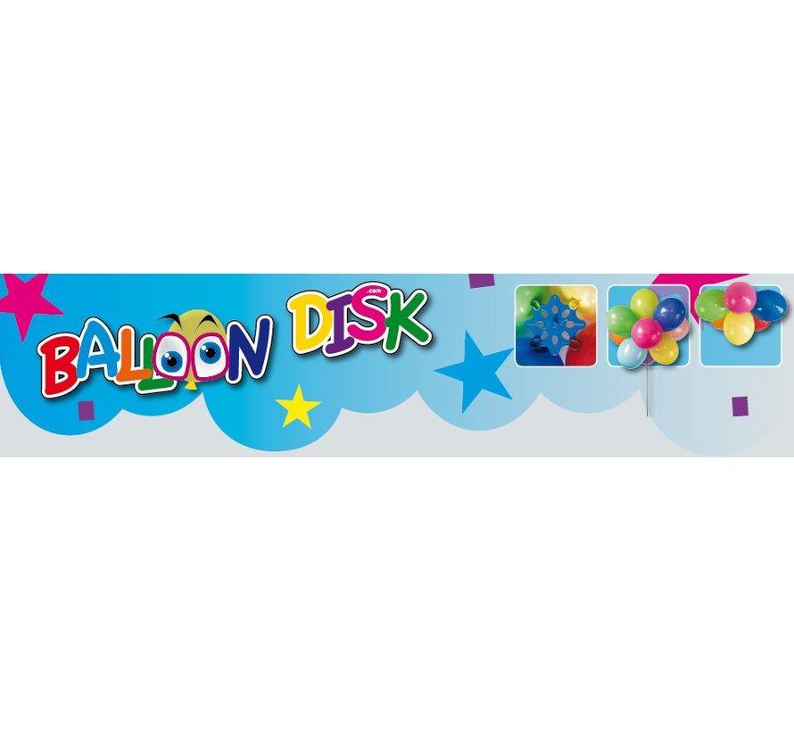 Ballon disk voor trossen ballonnen