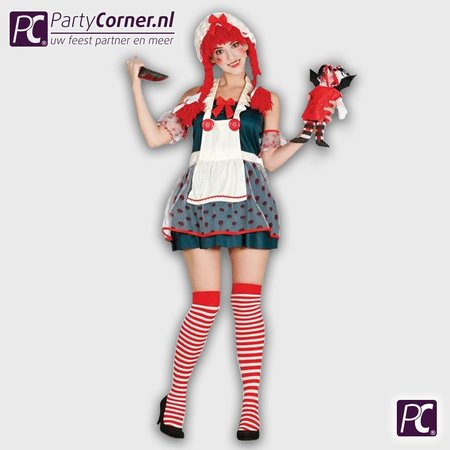 Dames horror clown kostuum