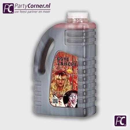 Grote fles nep bloed van 1 liter