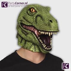 Latex T rex masker