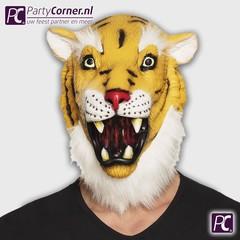 Latex tijger masker