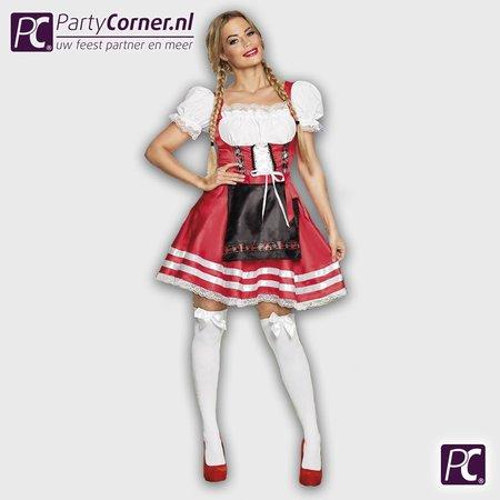 Tiroler jurkje Biermeisje Helena rood