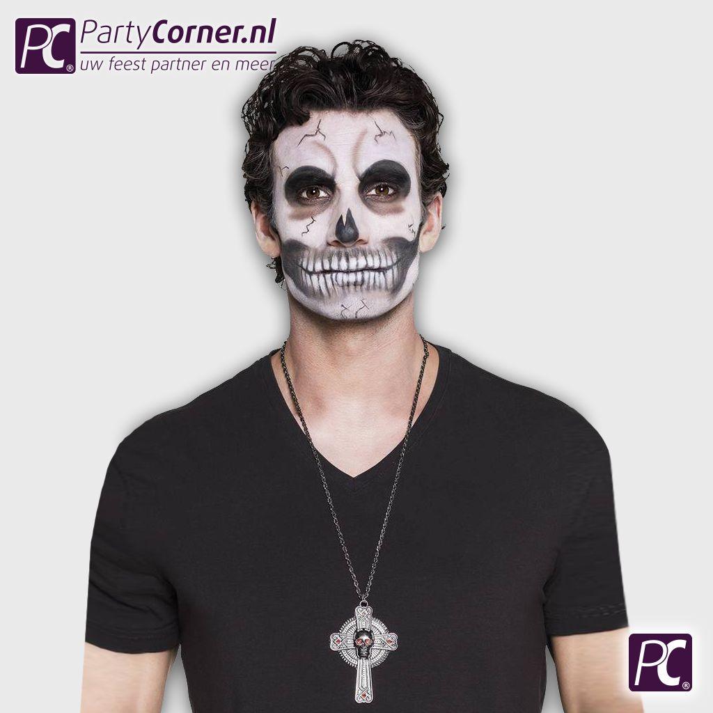 Halloween Kruis.Doodskop Kruis Ketting Partycorner Nl