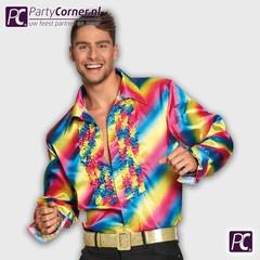 Heren regenboog shirt