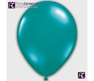 Turquoise metallic ballonnen
