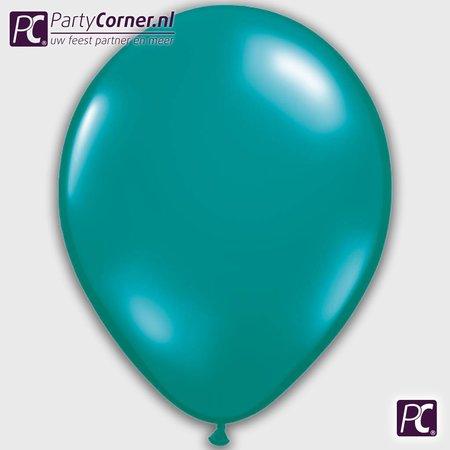 Turquoise metallic ballonnen online kopen