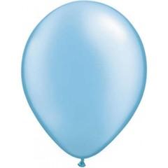 Licht blauwe metallic ballonnen