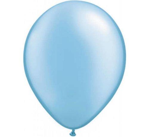 Grote Licht blauwe metallic ballonnen