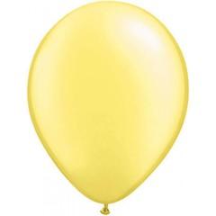 Citroengeel metallic ballonnen