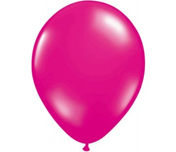 Donkerroze metallic ballonnen