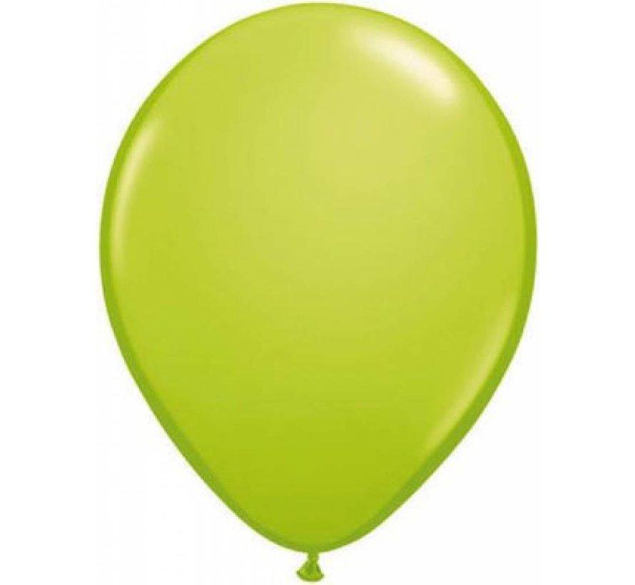 100 st Appelgroen metallic ballonnen online kopen