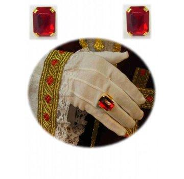 Sint ring rode steen