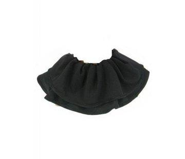 Trevira kraag Zwart