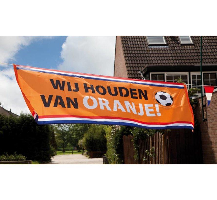 Banner Oranje straatbanner
