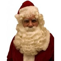 Luxe Kerstman baard en pruik