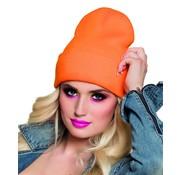 Neon oranje Beanie