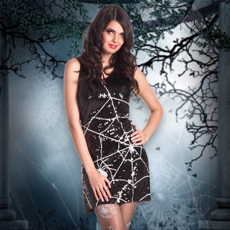 Glitter spinnenweb jurk kopen