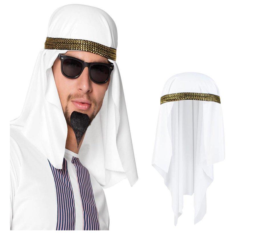 Witte Tulband hoed Sheik