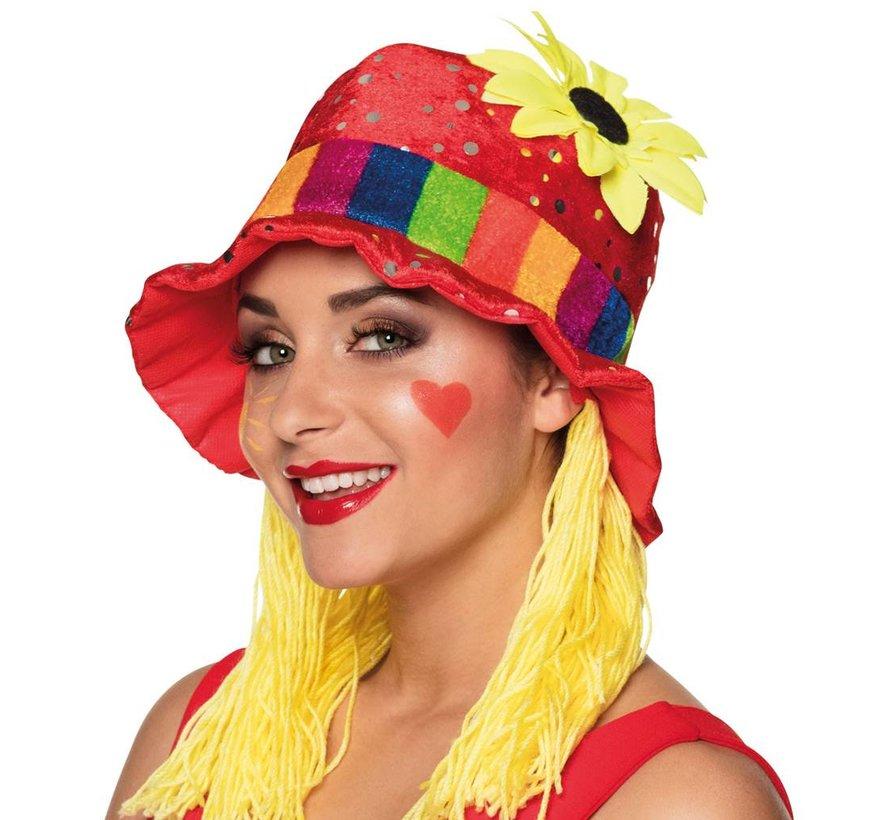 Clown Hoed Clara met haar