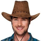 Heren cowboyhoed bruin