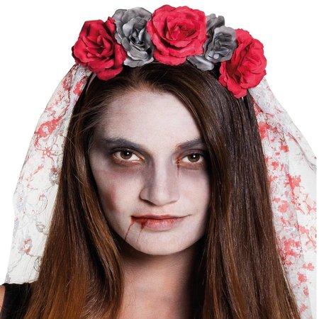 Horror bruid diadeem met sluier