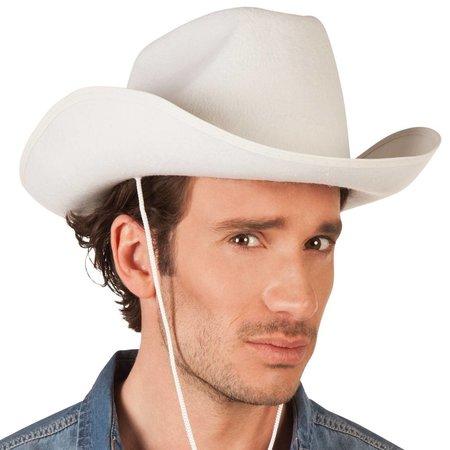 Cowboyhoed Vilt Wit