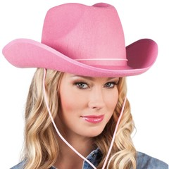 Cowboyhoed Vilt Hard Roze