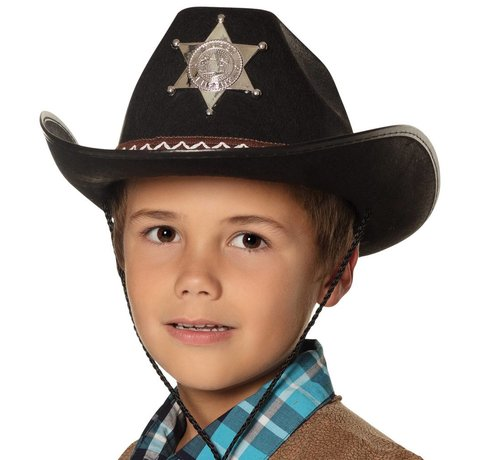 Cowboyhoed Sheriff Junior Zwart
