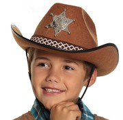 Bruine cowboyhoed kind