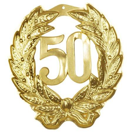 "Huldebord Decoratie ""50"" goud"