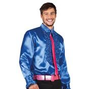 Disco shirt koningsblauw