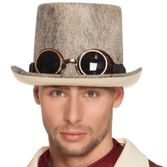 Steampunk hoed met bril