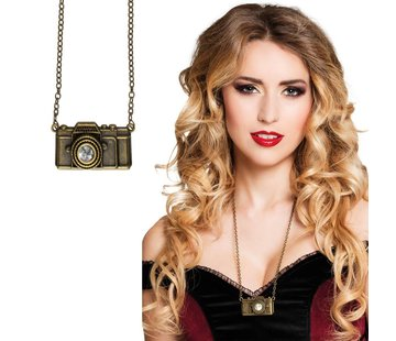 Steampunk camera ketting