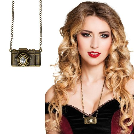 Steampunk camera ketting Campunk