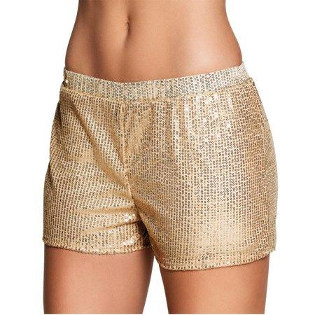 Glitter short goud