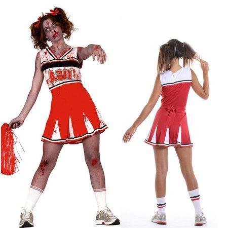 Zombie cheerleader kostuum