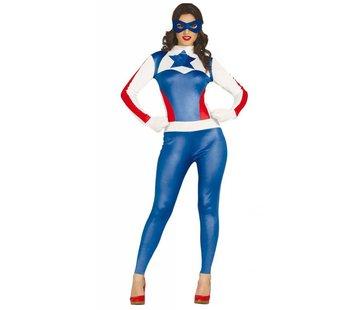 Dames Captain America kostuum