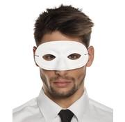 basic carnavals oogmasker wit