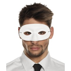 basic carnavals oogmasker wit