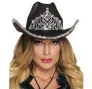Dames zwarte cowboy hoed