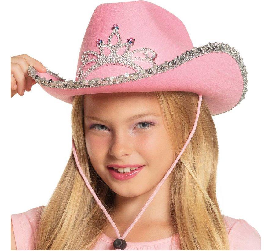 Roze meisjes cowboy hoed