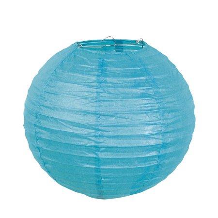 Luxe bol lampion turquoise blauw 25 cm