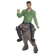 Gedragen door olifant kostuum