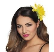 Gele haaraccessoires bloem